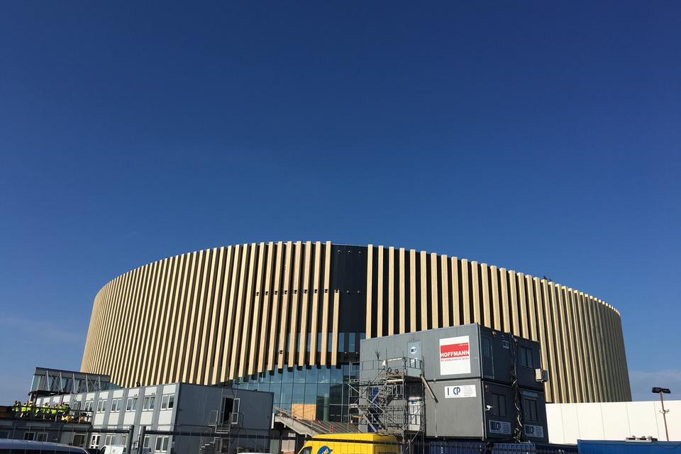 Royal Arena byggeriet i juni 2016